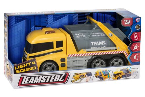 Teamsterz Skip Lorry Lights & Siren Sounds Kids Diecast Toy 36cm Long